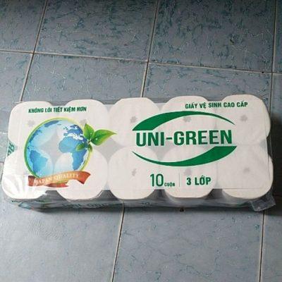 giấy vệ sinh không lõi uni green