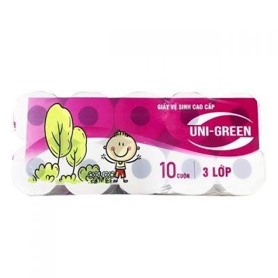 giấy vệ sinh chất lượng cao uni green
